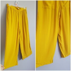 Zara yellow wide leg flowy pants - S